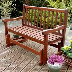 Rondeau Leisure Malaysian Hardwood 121cm Glider Bench