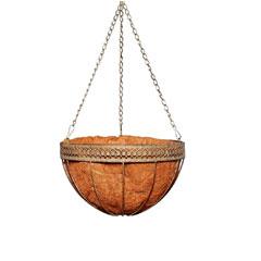 Botanico Antique Hanging Basket 14in