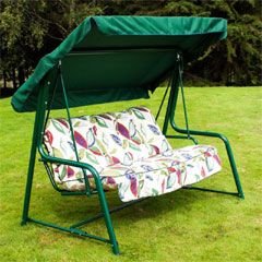 Greenfingers Premium 3 Seater Swing Seat - Leaf