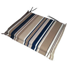 Greenfingers Square Carver Seat Cushion 2 Pack - Blue Stripe 46 x 45cm