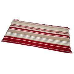 Image of Ellister 3 Seater Bench Cushion - Red Stripe