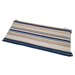 Ellister 3 Seater Bench Cushion - Blue Stripe 140cm