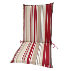Greenfingers Relaxer Cushion - Red Stripe 118 x 48cm