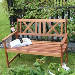 Soft Cross Timber Bench 2 Seater