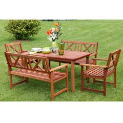 Image of Ellister 6 Seater Dining Set