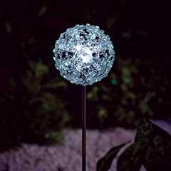 Gardman Colour Changing Snowflake Ball Stake Solar Light