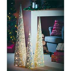 Gardman Pre-lit Festive Cone Christmas Tree - Small