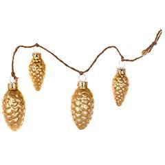 Hanging Gold Glass Pinecones 12.5cm - Set of 4