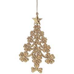 Gold Glitter Acrylic Tree - 10cm