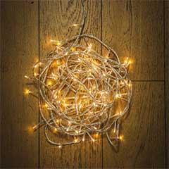 Christmas LED Multifunction String Lights 120 - Warm White / Clear Cable