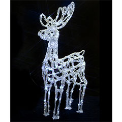 Christmas Outdoor Acrylic Reindeer - 72cm