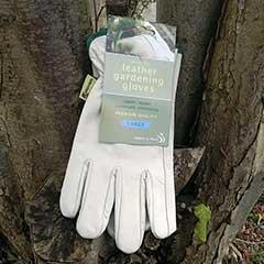 Leather Gardening Gloves - Large