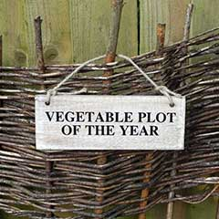 Vegetable Plot of the Year Sign
