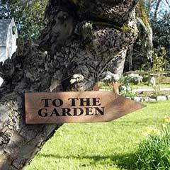To the Garden Sign