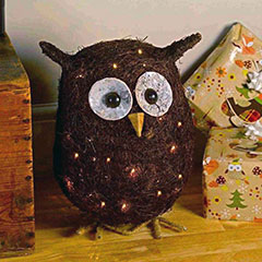 Ozzie the Owl Garden Ornament 30 LED Lights - 36cm