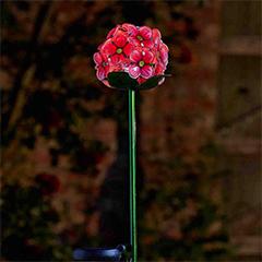 Pink Bloom Solar Flowers - 2 Pack