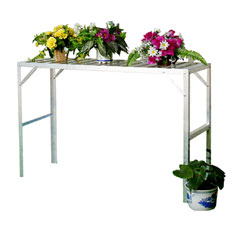 Nison One Tier Aluminium Staging - Silver