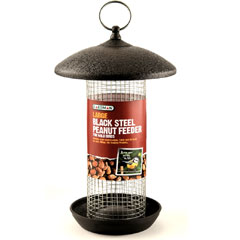 Gardman Large Black Steel Peanut Feeder