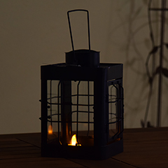 Verdigris Metal Lantern - 24cm Height