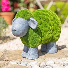 La Hacienda Flocked Effect Sheep - 40cm Width