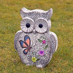 Owl Garden Ornament Stone Effect - 36cm Height