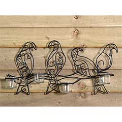 Wall Mounted Bird Candle Holder - 54cm Width