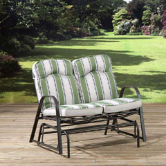 Pagoda Naples 2 Seater Cushioned Steel Rocker