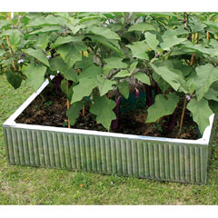 Hansons Galvanised Raised Garden Bed 90 x 90 x 20cm