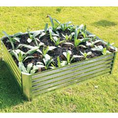Hansons Galvanised Raised Garden Bed 120 x 90 x 30cm