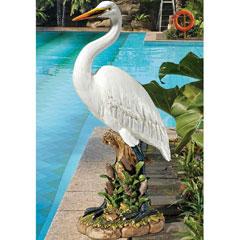 Design Toscano The Great White Egret Garden Statue