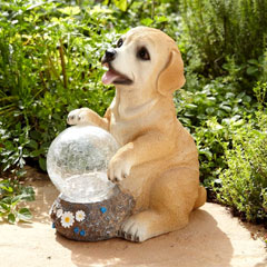 Innovators Garden Dog Solar Light with Colour Changing Ball