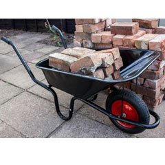 Ambassador Boxed Black Builders Wheelbarrow
