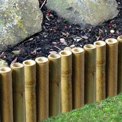 1m Bamboo Garden Edging - H15cm