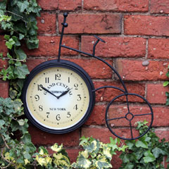 Kingfisher Penny Farthing Clock - 22cm