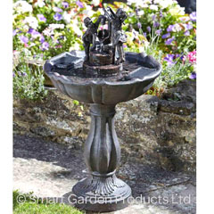 Smart Solar Tipping Pail Fountain Water Feature