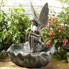 Smart Solar Fairy Leaf Fountain Water Feature