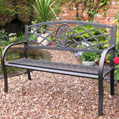 Rondeau Leisure Reims 2 Seater Steel Bench 129cm