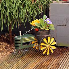 Metal Tractor Planter - 44cm Width