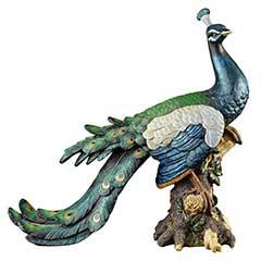 Design Toscano Palace Peacock Garden Statue - 38cm Width
