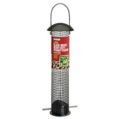 Large Black Nickel Heavy Duty Peanut Feeder - 33cm Height