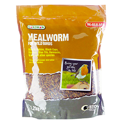 Mealworms For Wild Birds - 1.2kg Pouch