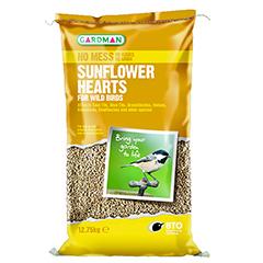 Sunflower Hearts For Wild Birds - 12.75kg