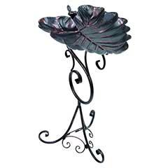 Gardman Decorative Leaf Bird Bath - 62cm Height
