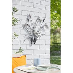 La Hacienda Reeds and Dragonflies Wall Art - 58cm Width