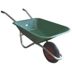 Greenfingers Value Plastic Wheelbarrow 65L Green