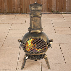 Embers Cast Iron Chiminea Bronze - 90cm