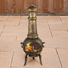Embers Cast Iron Chiminea Bronze - 125cm high