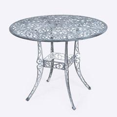 Ellister Stamford Juno 90cm Round Table - Antique Grey