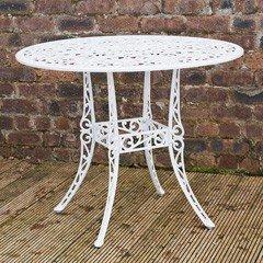 Ellister Stamford Juno 90cm Round Table - White