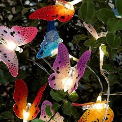 Greenfingers Butterfly String Solar Lights - Set of 10